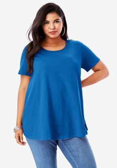 Trapeze Ultimate Tee with Keyhole Back, COBALT BLUE