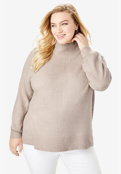 Soft Luxe Turtleneck Sweater, OYSTER PEARL