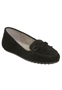Long Drive Moccasins by Aerosoles®, BLACK SUEDE, hi-res