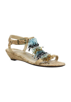 Aleesa Wedge by J. Renee®, NATURAL GOLD, hi-res