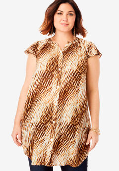 Flutter-Sleeve Angelina Tunic,