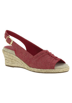 Kindly Sandals by Easy Street®, RED METALLIC PRINT