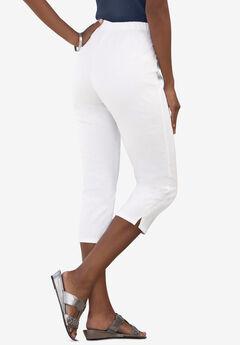 Pull-On Stretch Capri Jean, WHITE DENIM