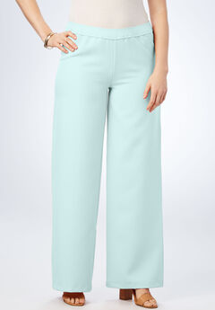 Wide-Leg Bend Over® Pant, PASTEL TURQUOISE