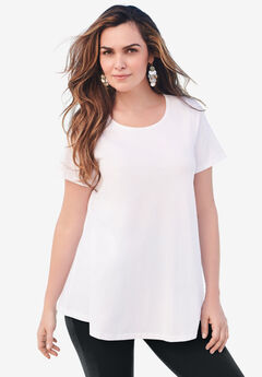 Swing Ultimate Tee with Keyhole Back, WHITE