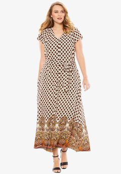 Border Maxi Dress, PAISLEY PRINT, hi-res
