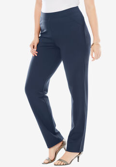 Straight-Leg Ultimate Ponte Pant, NAVY