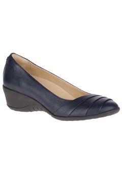Jalania Odell Dress Shoes by Hush Puppies®, DARK SAPPHIRE LEATHER
