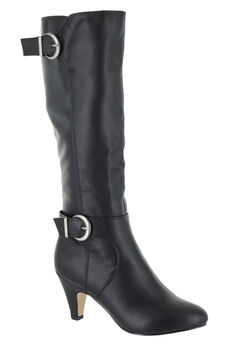 Toni II Wide Calf Boots by Bella Vita®, BLACK