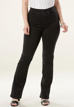The No-Gap Slim Bootcut Jean by Denim 24/7®, BLACK