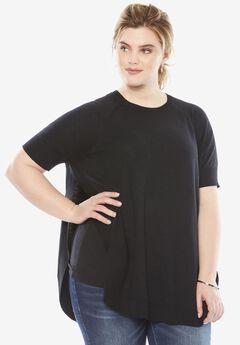Side Slit Pullover, BLACK, hi-res