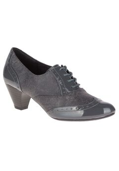 Gianna Pumps by Soft Style, DARK GREY TWEED PATENT, hi-res