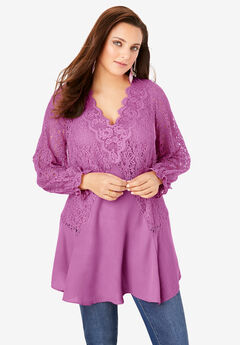 Lace & Georgette Swing Tunic,