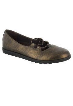 Effie Flats by Easy Street®, BRONZE METALLIC WASH, hi-res