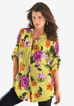 English Floral Big Shirt,