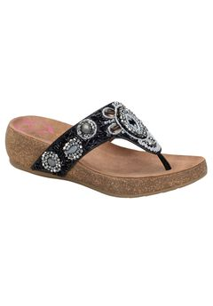 Sade Sandals by Comfortiva®, BLACK, hi-res