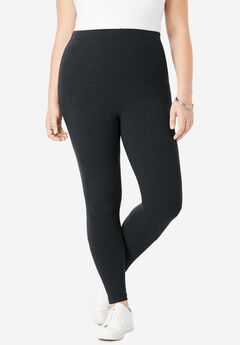 Ankle-Length Stretch Legging, NAVY