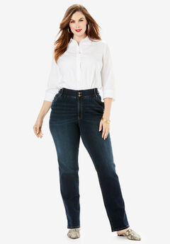 The Straight-Leg Curvy Jean by Denim 24/7®,