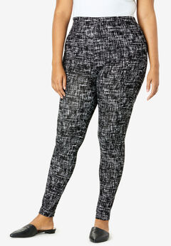 Essential Stretch Legging, BLACK GRAPHIC TEXTURE
