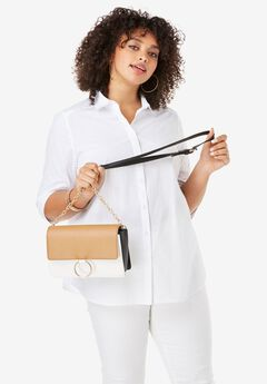 Colorblock Crossbody Bag,