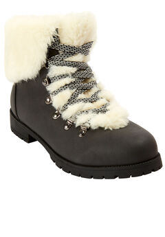 The Arctic Bootie by Comfortview®, BLACK