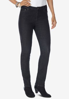 Skinny Jean with Invisible Stretch® by Denim 24/7®, BLACK DENIM