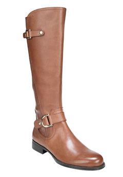 Jenelle Wide Calf Boots by Naturalizer®, BROWN, hi-res