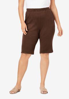 Soft Knit Bermuda Short, RICH BROWN