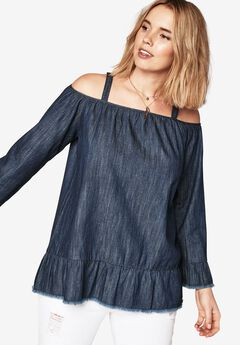 Cold Shoulder Shirt by Denim 24/7,