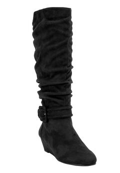Bodhi Tall Calf Boots by Comfortview, BLACK, hi-res