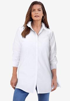 Kate Tunic Big Shirt, WHITE