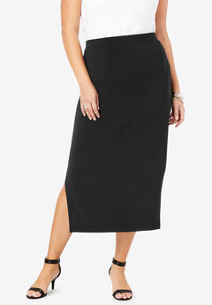 Side-Slit Pencil Skirt,