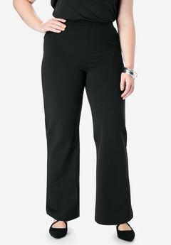 Ultimate Ponte Wide Leg Pant, BLACK