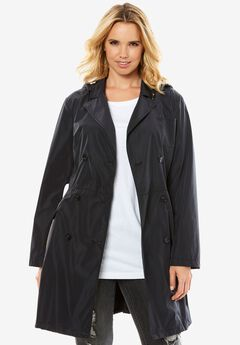 Packable Trench Coat, BLACK, hi-res