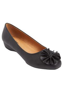 Rhea Ballet Flat by Comfortview, BLACK, hi-res