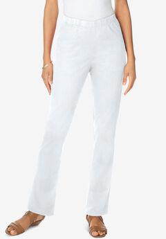 Straight-Leg Pull-On Stretch Jean by Denim 24/7®, WHITE DENIM