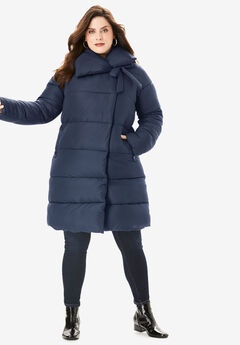 High Collar Puffer Coat,