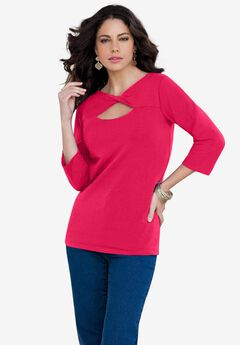 Twist-Neck Runway Tee,