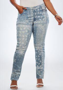 Bandana-Print Jean by Denim 24/7®,
