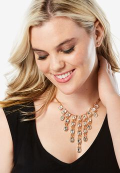 Cascading Rhinestone Necklace,