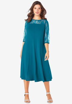 Ultrasmooth® Illusion Lace Swing Dress,