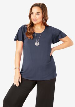 Ultra Smooth Scoopneck Top,