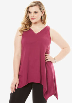 Handkerchief Hem Super Tunic Tank,
