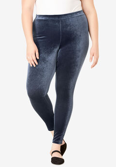 Velour Legging, NAVY