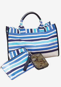 Tote Bag, BLUE STRIPES, hi-res
