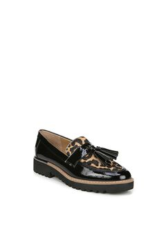 Carolynn Loafer by Franco Sarto, BLACK CAMEL LEOPARD