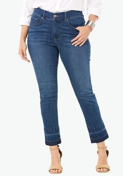 Released Hem Skinny Jeans by Denim 24/7®, INDIGO WASH, hi-res
