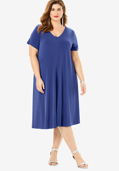 Swing Drape Dress, ULTRA BLUE