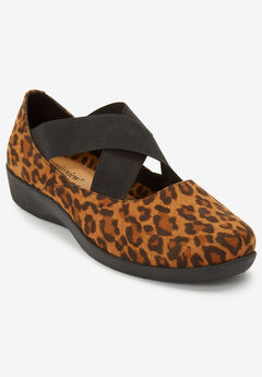 The Stacia Mary Jane Flat by Comfortview®, ANIMAL