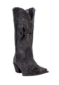 Lucretia Wide Calf Boots by Laredo, BLACK TAN, hi-res